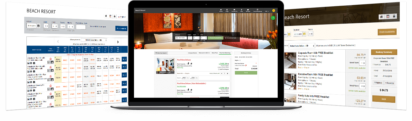 Multiple Room Booking & Layout Interfaces