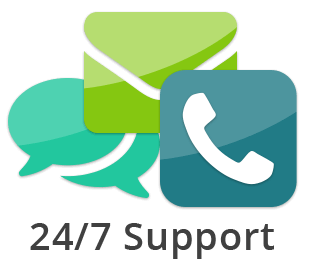 Built in 24/7 support