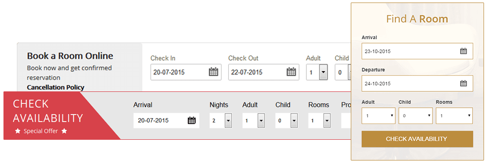 Booking Box Widget Suites to your website