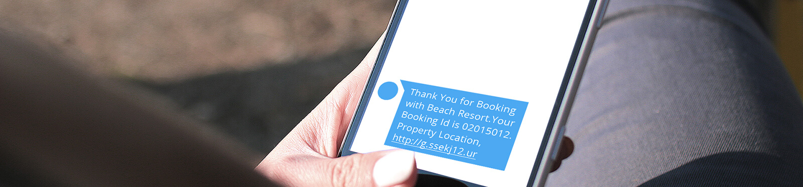 SMS on booking